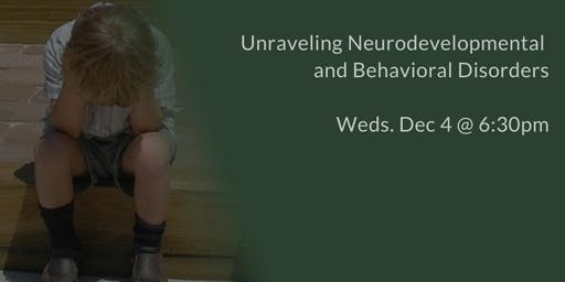 Neurodevelopmental and Behavioral Disorders Workshop - ADHD, Autism, OCD, Anxiety, SPD, ODD, Dyslexia, Tourette's
