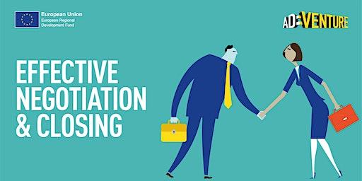 Adventure Business Workshop in York - Effective Negotiation & Closing Skills