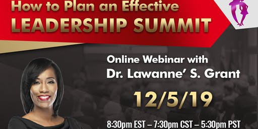 How to Plan an Effective LEADERSHIP SUMMIT