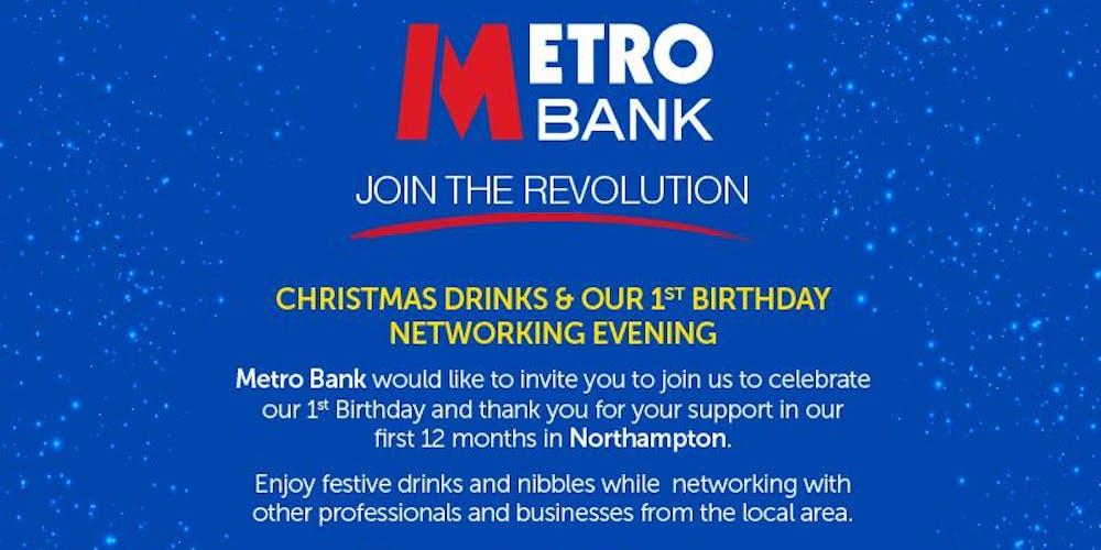 Metro Bank Christmas Drinks 1st Birthday Celebration