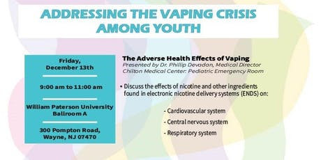 Addressing The Vaping Crisis Among Youth tickets