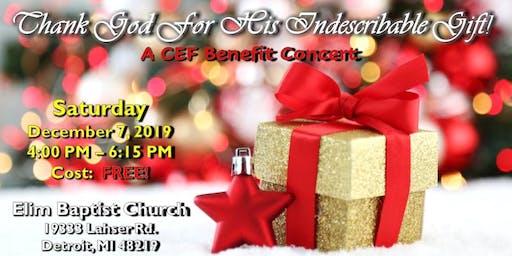 CEF Christmas Benefit Concert
