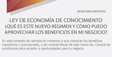 INVITACIÓN DESAYUNO: Ley de Economía del Conocimiento