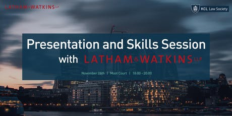 Presentation and Skills Session with Latham & Watkins tickets