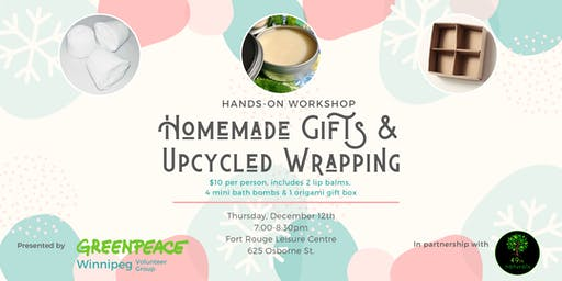 Homemade Gifts & Upcycled Wrapping Workshop