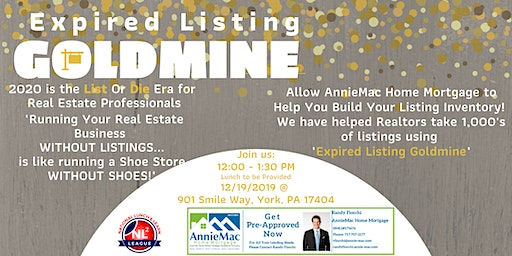 Expired Listing Goldmine-  Build your listing inventory for a strong 2020!