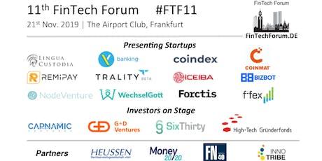 11th FinTech Forum   21st Nov. 2019 tickets