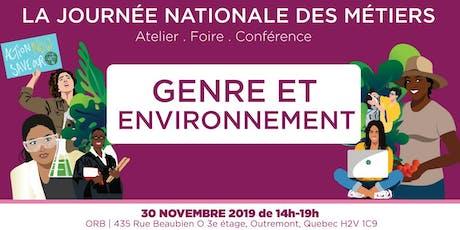 Genre et Environnement: Journée Nationale des Métiers billets