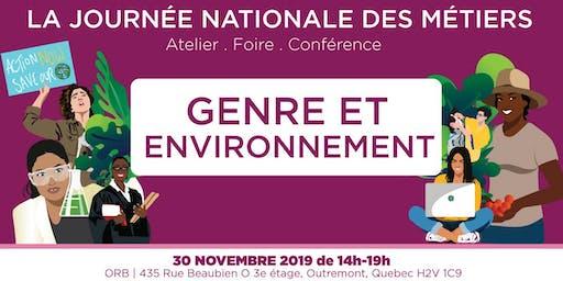 Genre et Environnement: Journée Nationale des Métiers