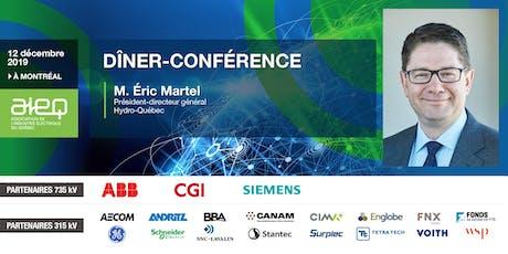 AIEQ - Dîner-conférence avec M. Éric Martel, PDG d'Hydro-Québec tickets