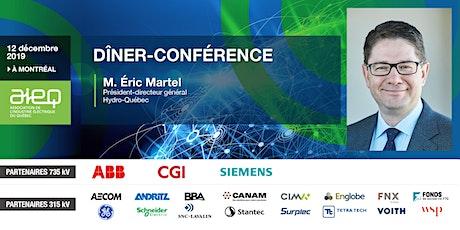 AIEQ - Dîner-conférence avec M. Éric Martel, PDG d'Hydro-Québec billets