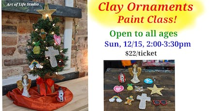 Paint Class: Clay Ornaments tickets