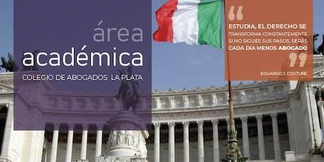 CONFERENCIA: EL SISTEMA POLÍTICO INSTITUCIONAL ITALIANO entradas