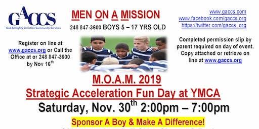 2019 GACCS Men On A Mission Boys Strategic Acceleration Fun Day Sat. Nov 30
