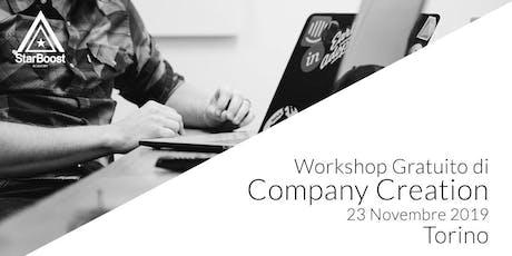 [Torino] Workshop Gratuito di Company Creation StarBoost biglietti