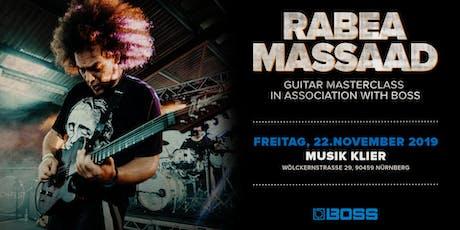 Guitar Masterclass mit Rabea Massaad Tickets