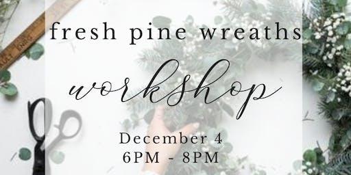 Fresh Pine Wreath | La Valencia La Jolla