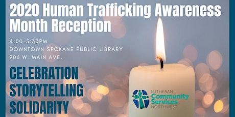 2020 Human Trafficking Awareness Month Reception tickets