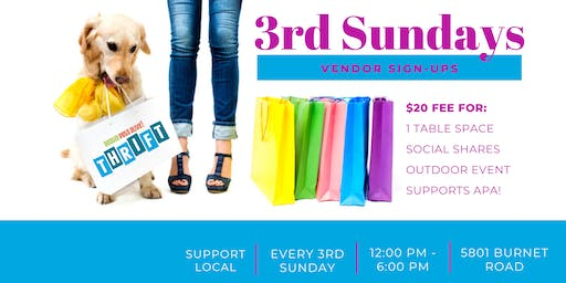 3rd Sunday Vendor Signups