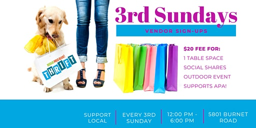 3rd Sunday Vendor Signups