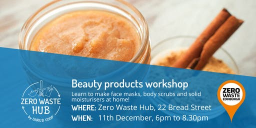 Zero Waste Beauty Products workshop