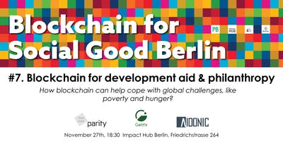 Blockchain for Development Aid & Philanthropy