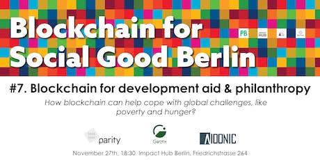 Blockchain for Development Aid & Philanthropy tickets