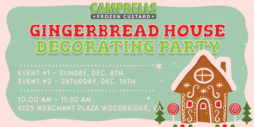 2019 Campbell's Custard Gingerbread House Decorating Party - Event 1