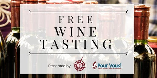 Free Wine Tasting @ Pour Vous