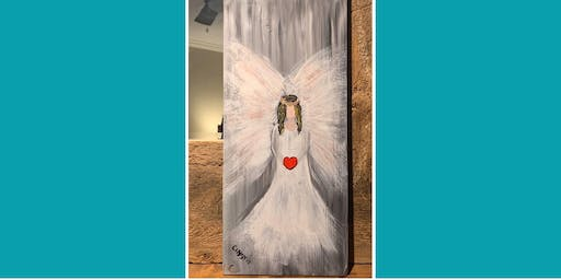 Christmas Angel board painting @ Ranchers