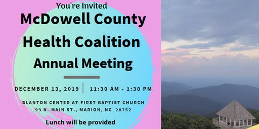 2019 McDowell County Health Coalition Annual Meeting