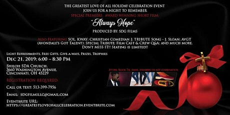 GREATEST LOVE OF ALL HOLIDAY CELEBRATION - SPECIAL SCREENING OF ALWAYS HOPE tickets