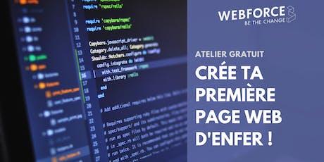 Atelier de code gratuit : Crée ta première page web avec WebForce3 ! billets