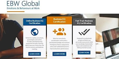 Business Emotional Intelligence Profile Certification Programme (UK Online) tickets