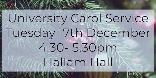 University Carol Service