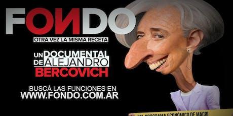 """""""FONDO"""" UN DOCUMENTAL DE ALEJANDRO BERCOVICH entradas"""