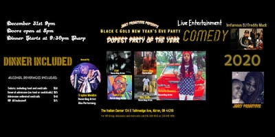 Black and Gold New Years Eve Bash