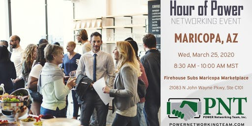 03/25/20 - PNT Maricopa - Hour of Power Networking Event