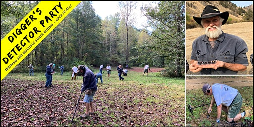 Digger's Detector Hunt Party: Training and Hunting at Vein Mountain, NC