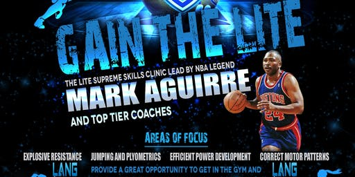 NBA LEGEND MARK AGUIRRE Leading The LITE Holiday Basketball Clinic