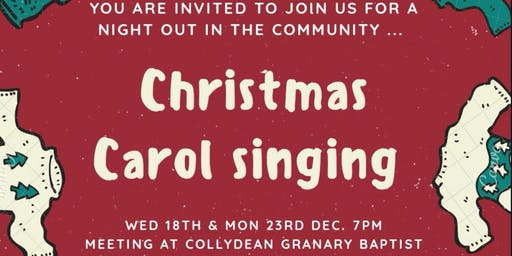 Carol singing in the community in Collydean