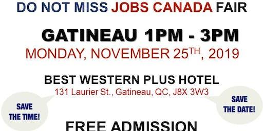 Gatineau Job Fair - November 25th, 2019