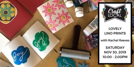 The Twelve Days of Crafting: Lovely Lino Prints tickets