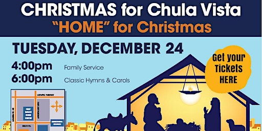 Christmas Eve for Chula Vista at 4pm and 6pm