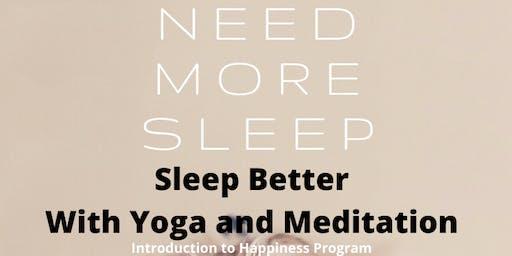 Sleep Better With Yoga and Meditation
