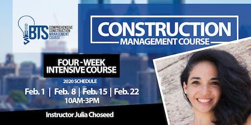 Comprehensive Accelerated Construction Management Course - Feb 2020