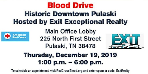 Historical Downtown Pulaski Blooddrive