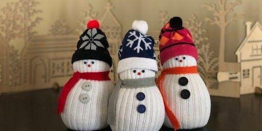 Family Fun Night Sock Snowman
