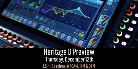 Midas Heritage D Preview tickets