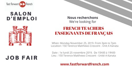 Salon d'emploi à Fast Forward French Job Fair billets